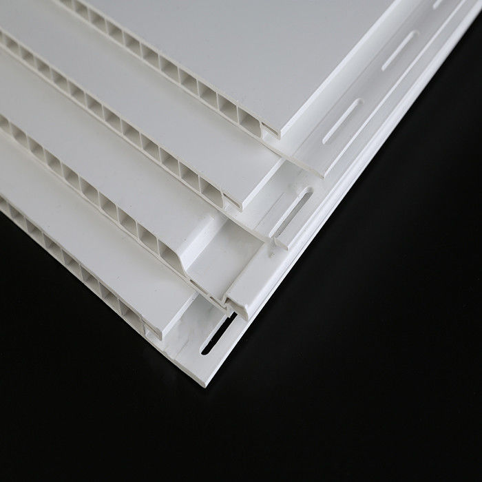 16ft White Decorative Plastic Wall Panels UV Resistant For Commercial