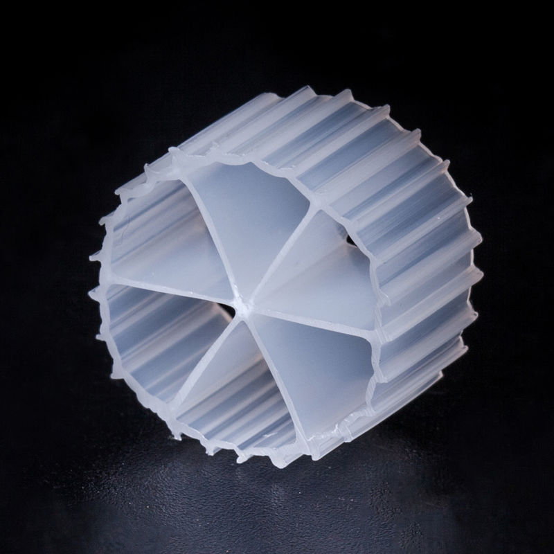16*10mm Size MBBR Biocell Filter Media Virgin HDPE Material And White Color For RAS